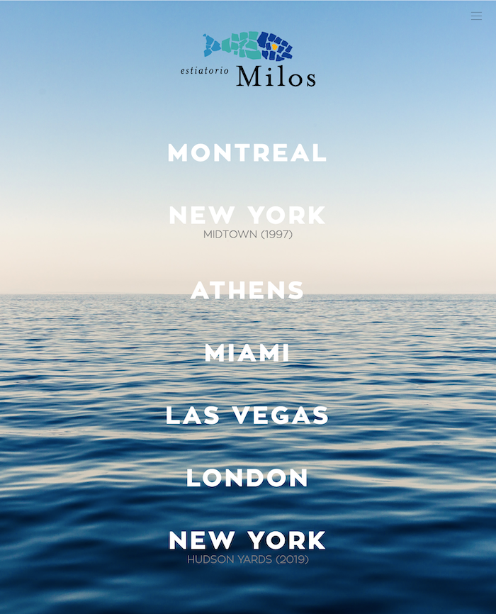 estiatorio milos locations